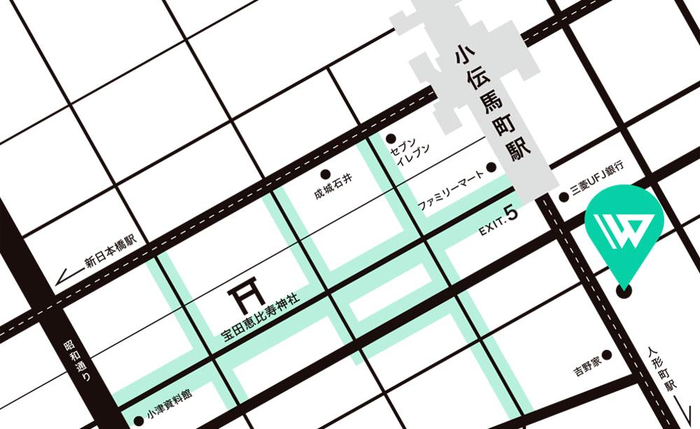 日本橋べったら市マップ